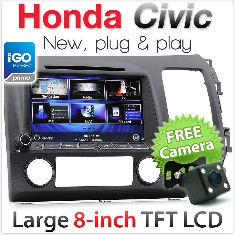 "8"" Honda Civic (8th Gen) car DVD player with GPS"