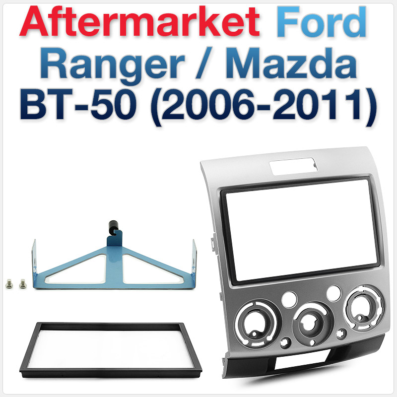 Ford Ranger PJ-PK & Mazda BT-50 2006-2011 Double-DIN Facia Kit Dash Fascia Panel