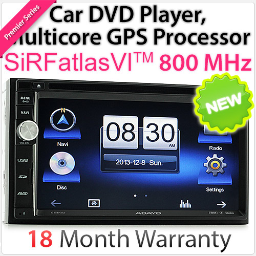 "6.75"" Double-DIN car DVD player with GPS"