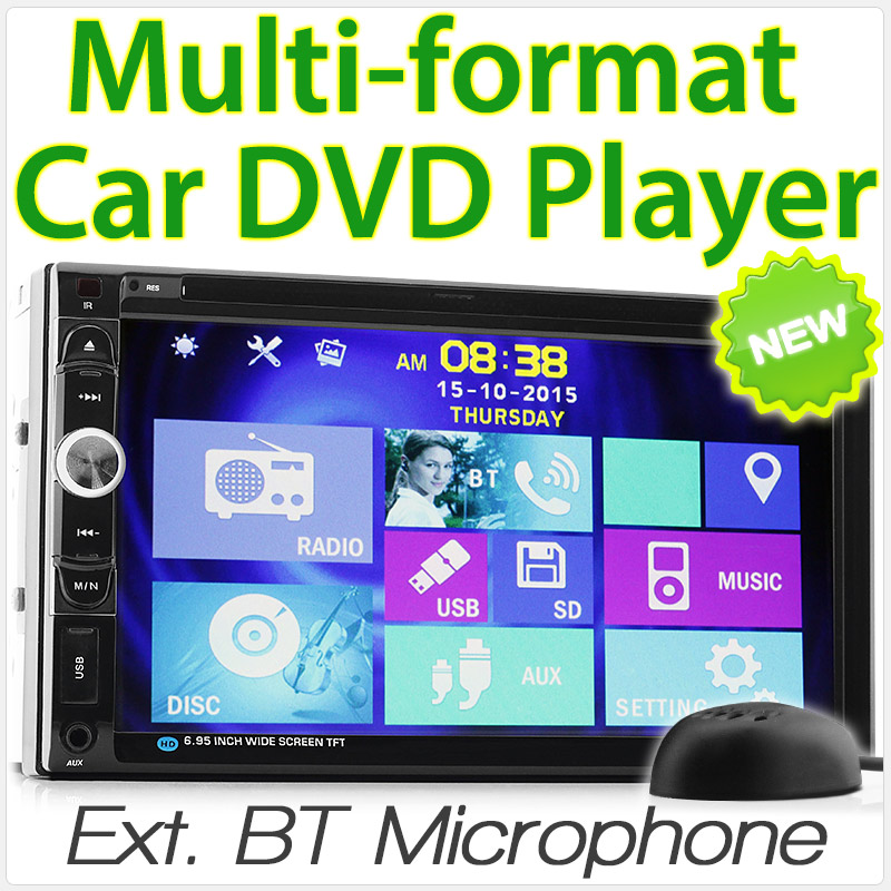 "7"" Double-DIN car DVD player"