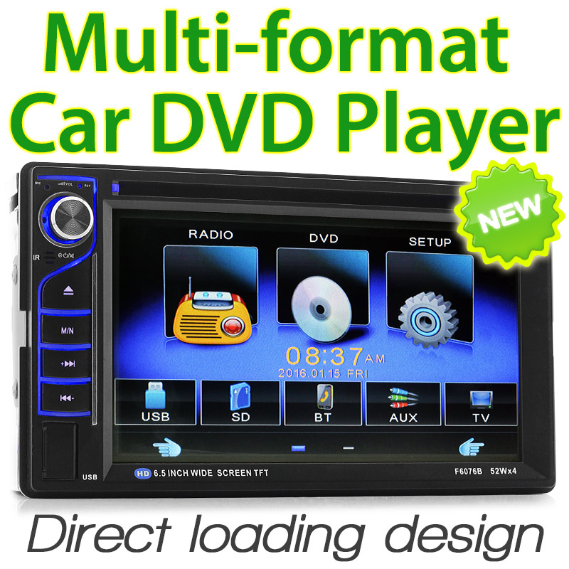 "6.5"" Double-DIN car DVD player"