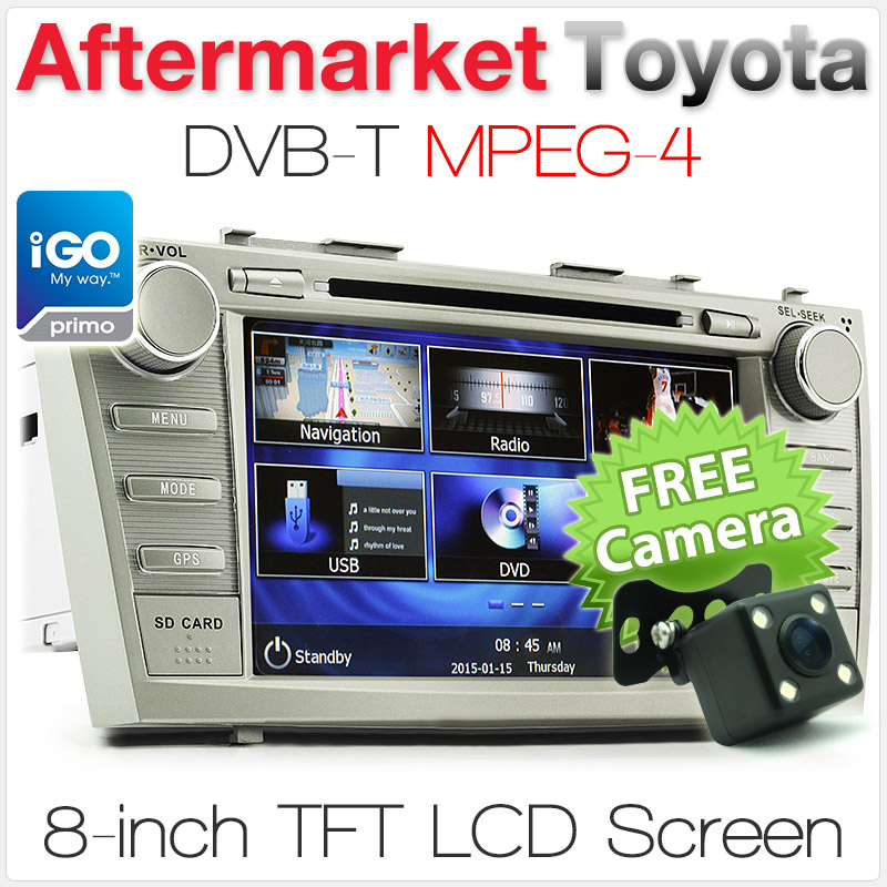 "8"" Toyota Camry/Aurion (6th Gen) car DVD player with GPS and DVB-T"