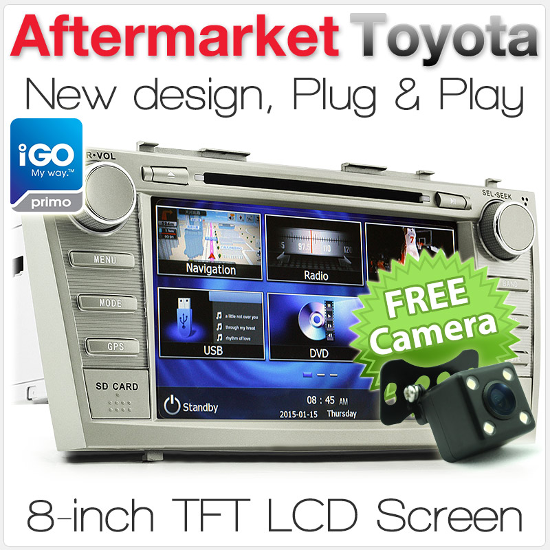 "8"" Toyota Camry/Aurion (6th Gen) car DVD player with GPS"