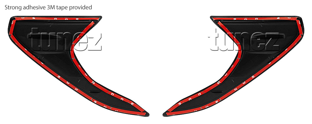 Front Tail Rear Light Lamp Cover For Toyota Hilux 2016 2017 2018 TRD Black OZ