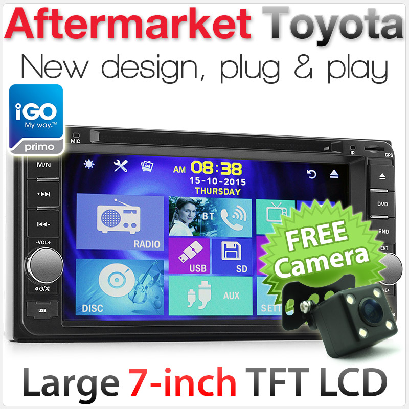 "7"" Dedicated Toyota car DVD player with GPS"
