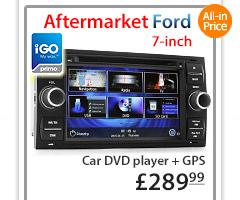 FF01GPS Aftermarket 7-inch Ford Focus Transit Car DVD GPS player stereo radio head unit sat nav navi tunez details supports HD 720p