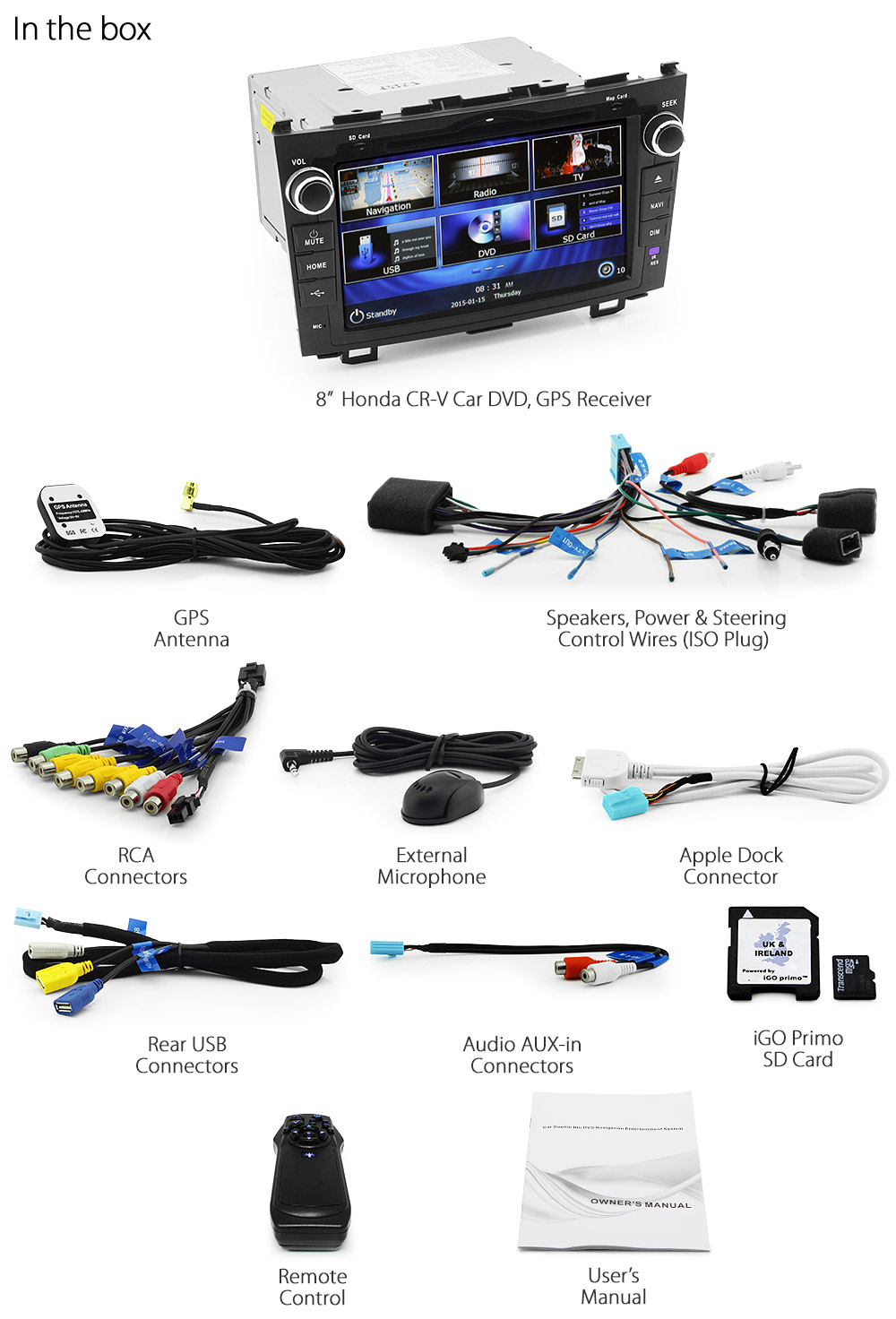 8 Honda CRV Car DVD GPS Player Radio Head Unit Stereo Sat Nav MK – Jvc R330 Wiring-diagram
