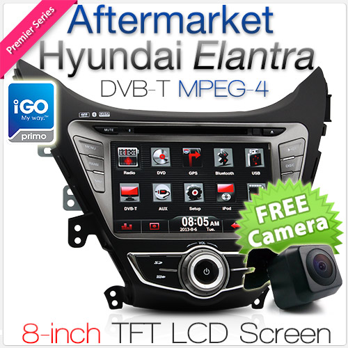 "8"" Dedicated Hyundai Elantra car DVD player with GPS and DVBT"