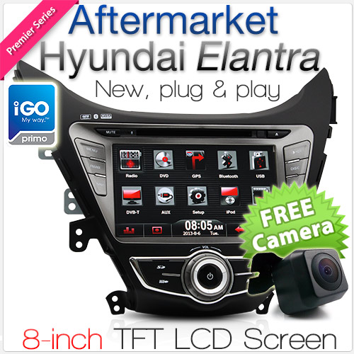 "8"" Dedicated Hyundai Elantra car DVD player with GPS"