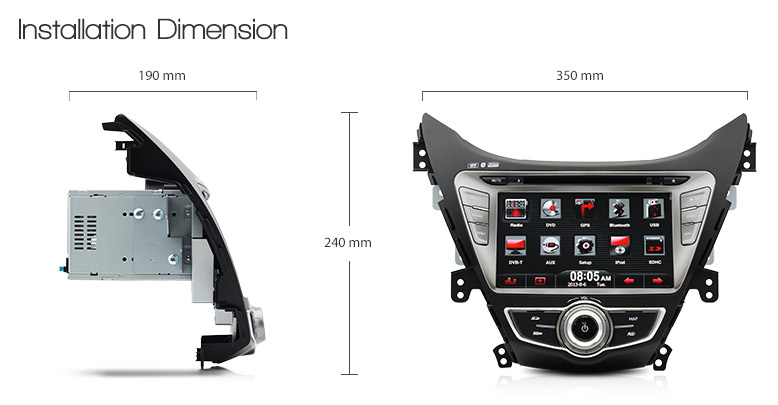 8 car dvd gps player for hyundai elantra md stereo. Black Bedroom Furniture Sets. Home Design Ideas