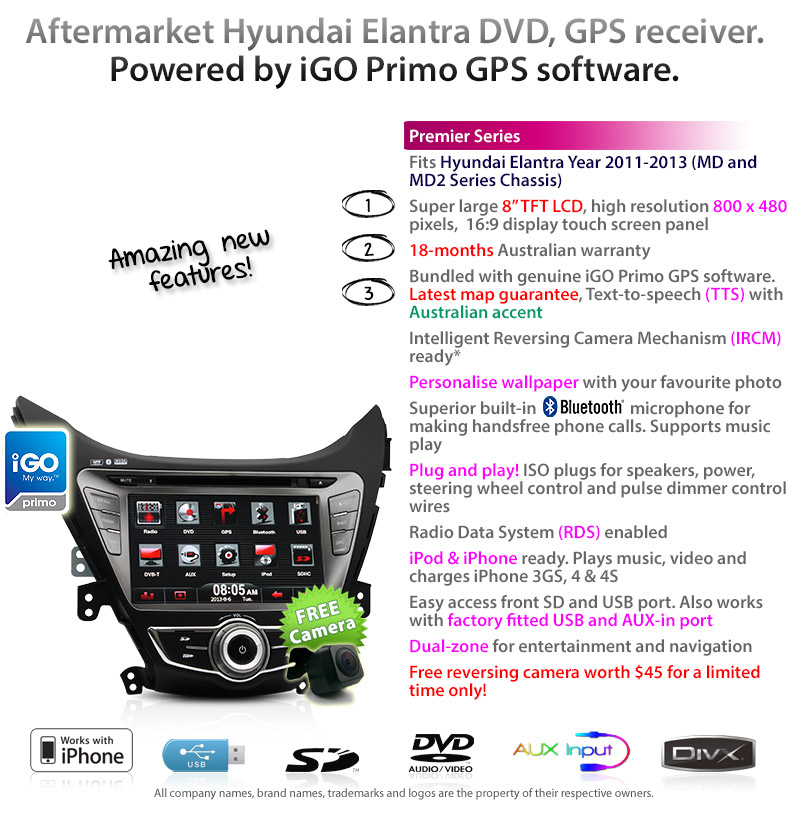 8 034 car gps dvd player for hyundai elantra md stereo radio sat igo primo licensed 100% genuine vs pirate copy comparison chart latest gps navteq map