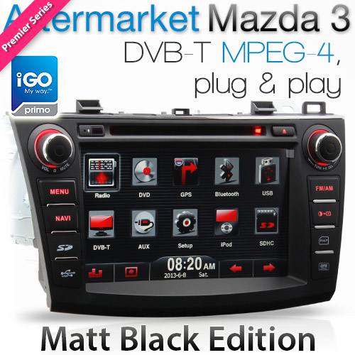 "8"" Dedicated Mazda 3 car DVD player with GPS and DVBT"