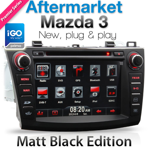 "8"" Dedicated Mazda 3 car DVD player with GPS"