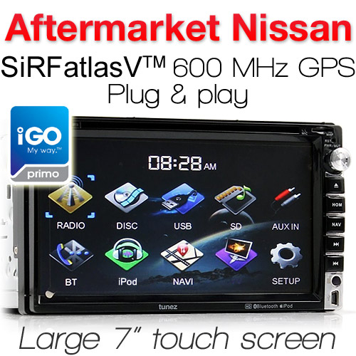 "7"" Nissan car DVD player with GPS"